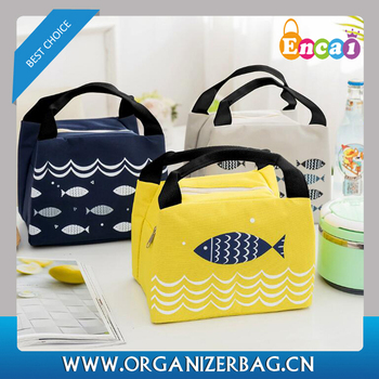 Encai Insulated Fish Printing Fitness Cooler Bag