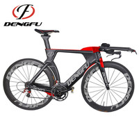 New Arrival ! 2017 Dengfu New Carbon Triathlon Bike Frame TT01 Painting Red and Grey