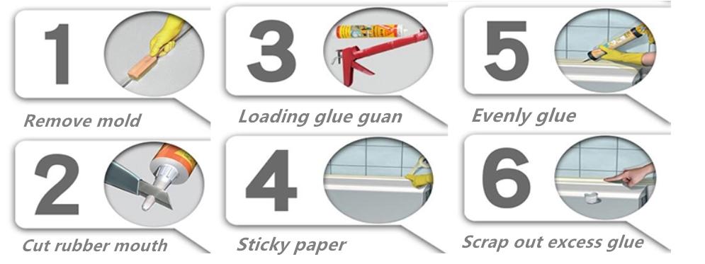 Avançado vedador neutro do silicone à prova d' água em vez de a fita de vedação para janela e porta
