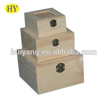 Custom Storage Pine Wooden Box With Photo Frame Lid Buy Pine Wood
