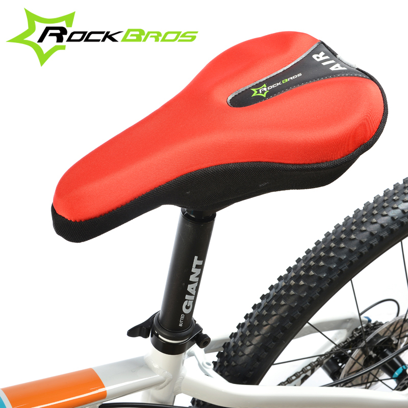 Bicycle Saddle Cover Bike Seat Cushion 3D Silicone Nylon Gel Soft Pad Red