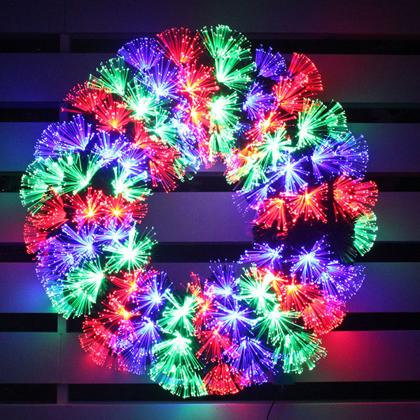 Hanging LED Fiber Optic Christmas Garland for Outdoor Decoration