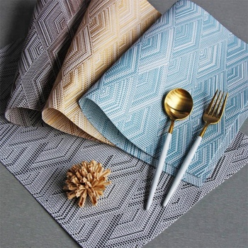 Alibaba & Modern Placemats Washable Pvc Dining Table Mats Heat Resistant Sustainable Woven Vinyl Place Mats For Kitchen Table - Buy Modern Woven PlacematWoven ...