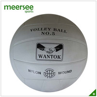 Size number 5 waterproof rubber beach volleyball white