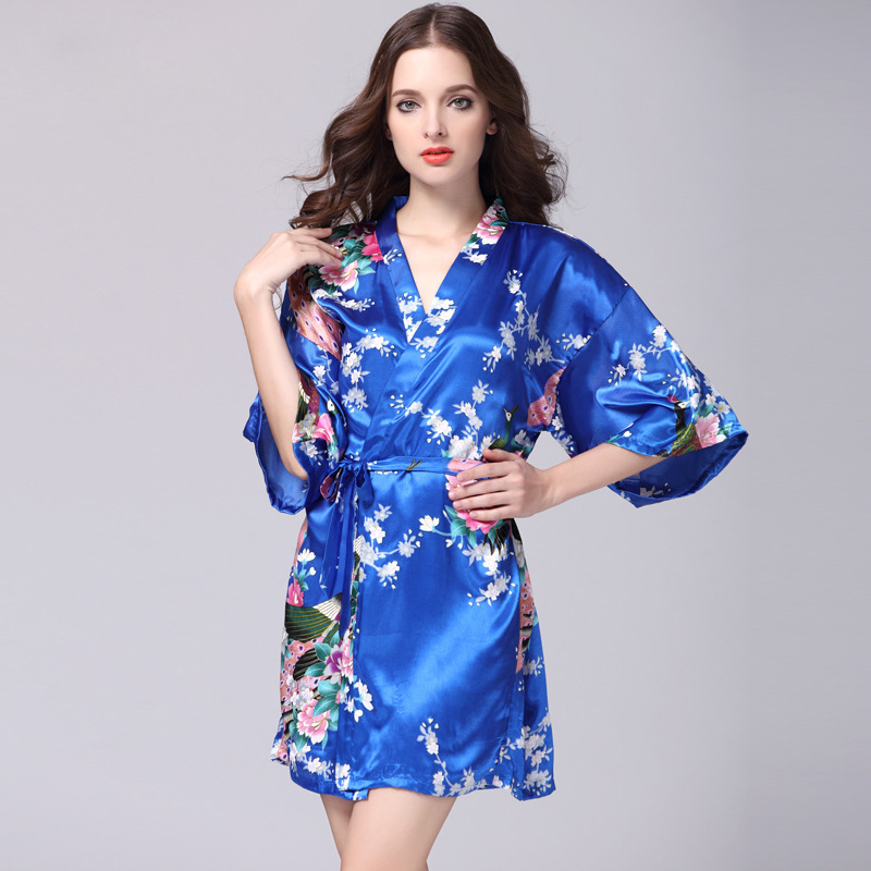 Colorful Nice Quality Sexy Hot Cheap Silk Sleeping dress