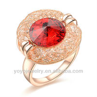 art jewellery 14 carat gold crystal mesh wedding band ring