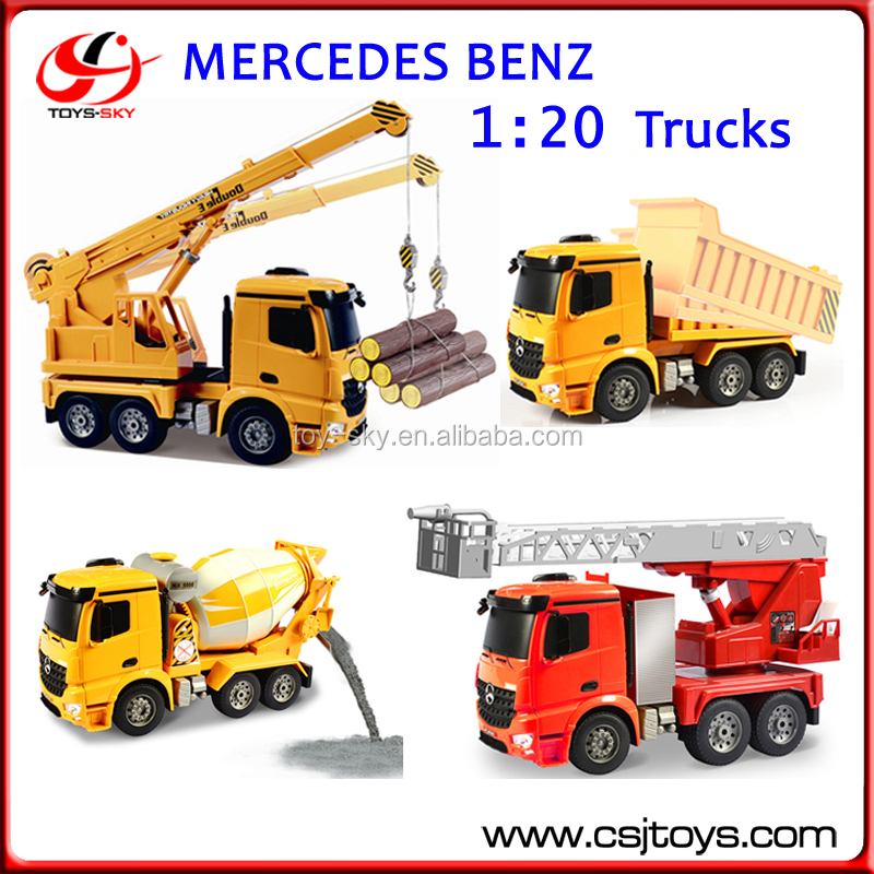Engineering Construction Vehicles Middle Size Dumper Remote Control Authorized Truck Electric 1:20 Car Model RC Trucks