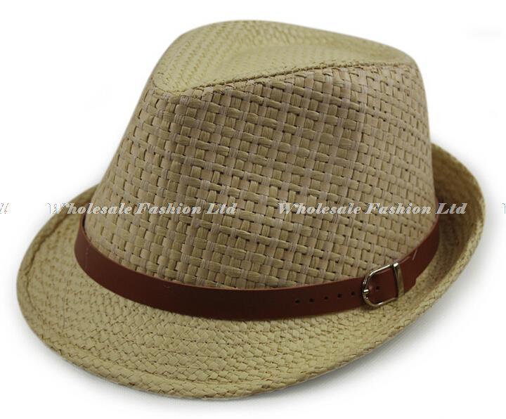 f7b262ca53f2b Wholesale-Wholesale Designer Men Plaid Paper Fedora Hat Style Women ...