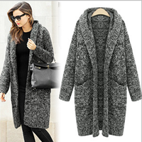 MS60384W latest wholesale knitted sweater women cashmere wool coat