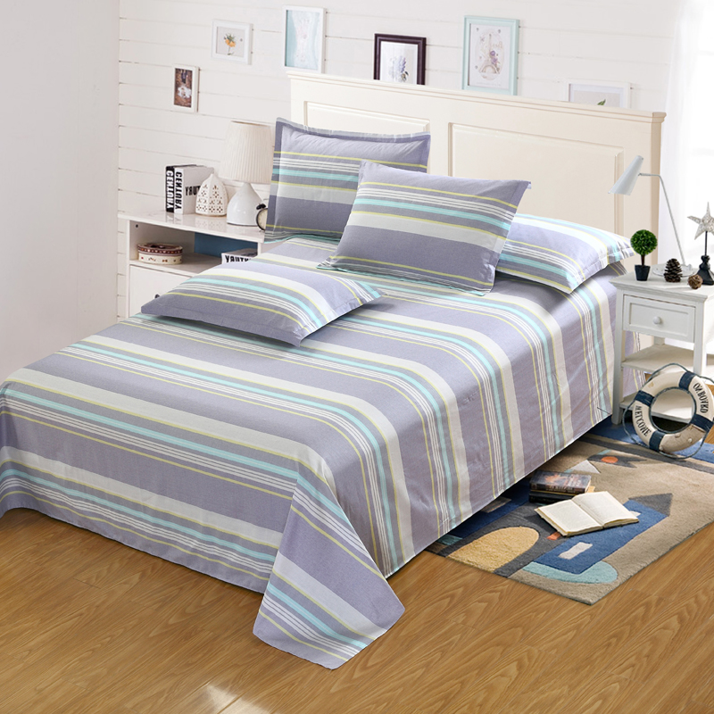 King Size Bedspread Quality Directly From China Children Bedding Suppliers 100 Cotton Stripes Flat Sheet Men Women