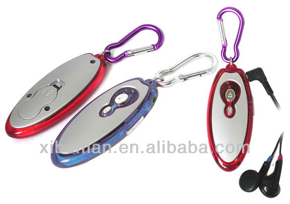 mini promotional gift portable [keychain fm radio] with clasp