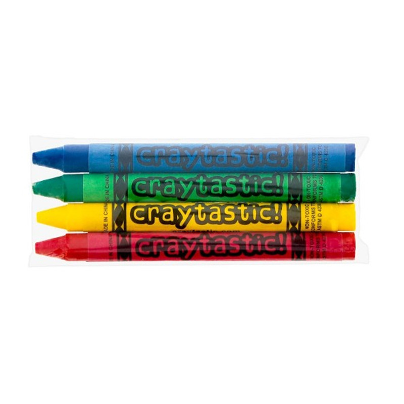 Oempromo custom bulk coloring 4 pack crayons for children