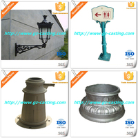 Iron casting foundry OEM&customized ISO 9001:2008 certificated cast iron bases in stock wholesale light bases