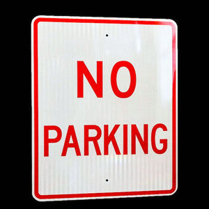 H&D Custom No PARKING Warning Nameplate Metal Traffic Road Street Sign Aluminum