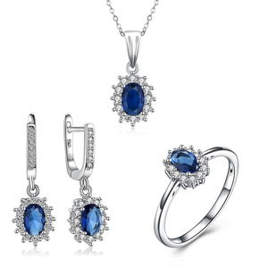 Wholesale Classical royal blue bridal jewellery sets