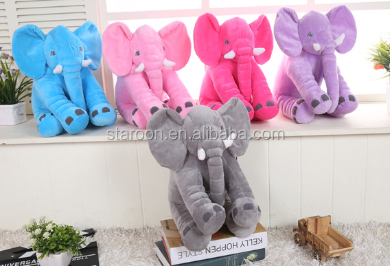 latest design animal shaped elephant plush pillow for baby