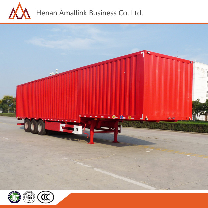 cheap 3 axle van type semi trailer truck and full trailer truck