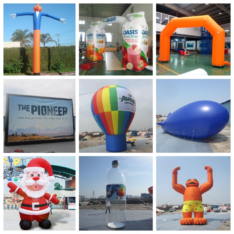Customized make event inflatable christmas santa from china golden supplier