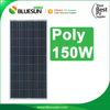 Bluesun 150 wp best price per watt sun power solar panel polycrystalline 150w solar pv panel