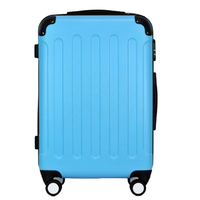 Abs pc printed suitcase expandable luggage