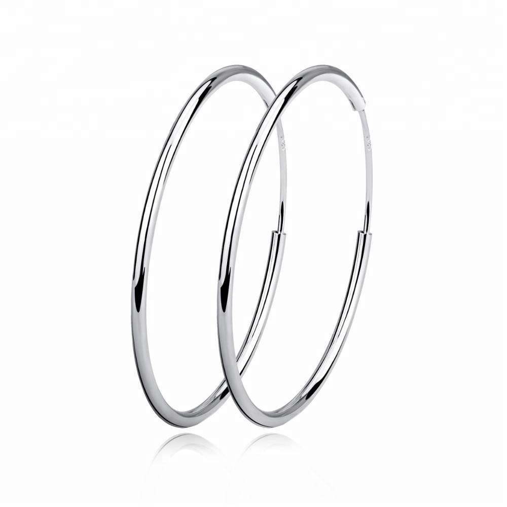 ef8217b1c Silver Hoop Earrings, Silver Hoop Earrings Suppliers and Manufacturers at  Alibaba.com