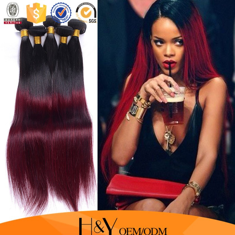 Hot Selling Products Silk Straight Ombre Hair Weavemilky Way Silky