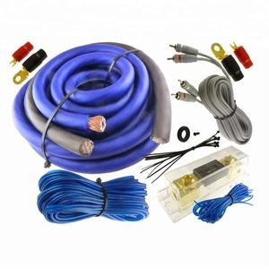Blue power cable car radio diy audio amplifier kit