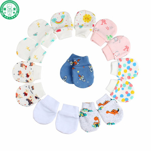 2018 colorful cute cotton newborn baby mittens