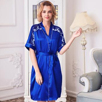 3f995e2f6ec Sexy Two-pieces sleeping ladies evening dress Factory drop shipping pajama  set for man silk