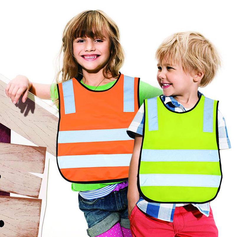 Nitting полиэфирной ткани безопасности светоотражающий жилет дети Chaleco Reflectante жилет безопасности светоотражающие работа ткань 42 * 47 см