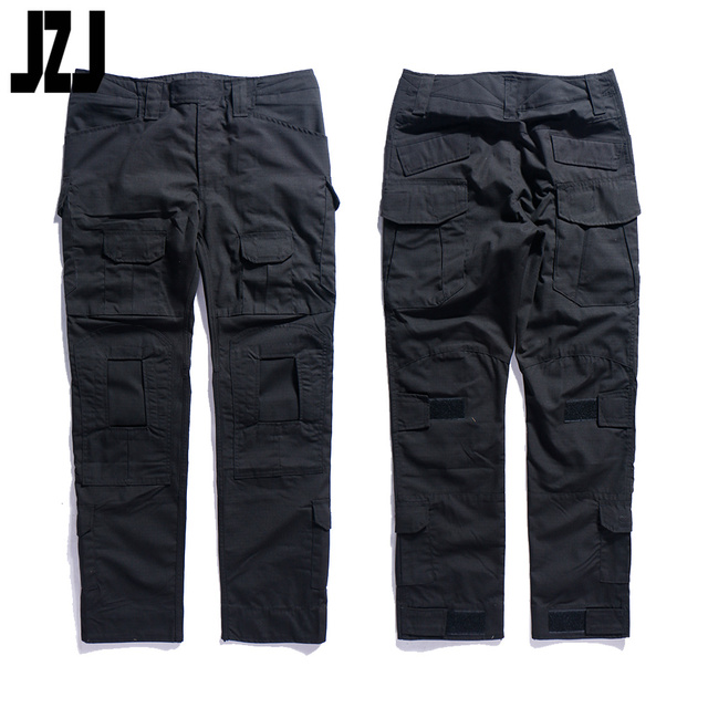 hot sale combat tactical breathable men black camo pants