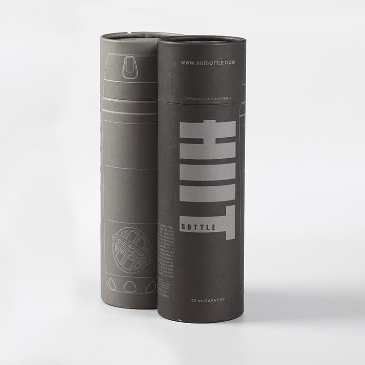 बिक्री के लिए कस्टम लोगो काले क्राफ्ट पेपर टी शर्ट ट्यूब पैकेजिंग