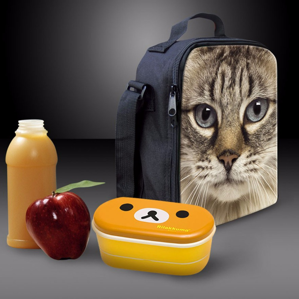 High Quality Water-proof Cowboy Cut Pattern Kids Lunch Bag, Thermal Insulated Food Cooler Bag