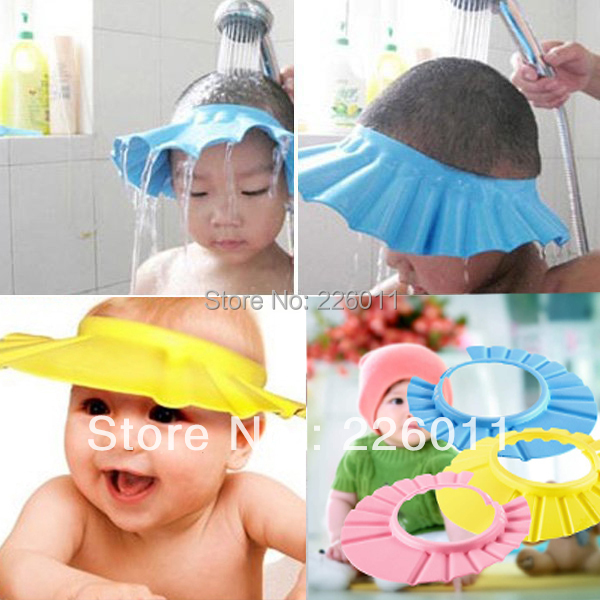 e454ac82b6e 1Pcs Soft Baby Kids Children Shampoo Bath Shower Cap Adjustable Baby Shower Hat  Baby Shampoo Cap