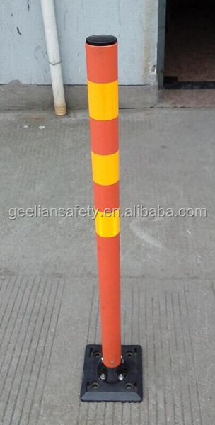 Highly Visible Soft Elastic PU Flexible delineator Warning Post Spring Back