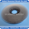 Floor scrubber brush with inner higher plate for scrubbers