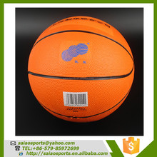 Custom logo printed rubber size 7 balls basketball promotional youth rubber basketball