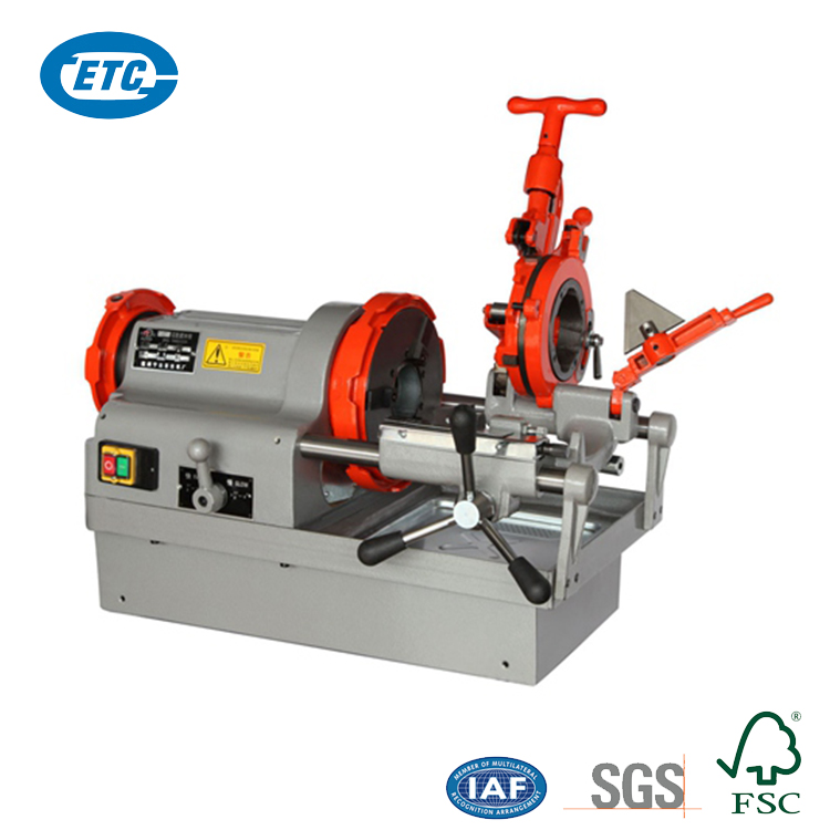 750W Automatic 26 r/min 3 Inch Portable Electric Pipe Threading Machine