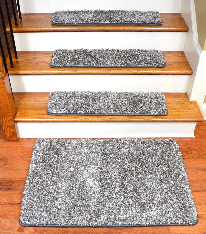 Get Quotations · Dean Stone Gray Shag Premium Stair Gripper Tape Free  Non Slip Pet Friendly DIY Carpet
