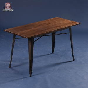 (SP-CT676) Wholesale rectangular cafe metal industrial style dining tables