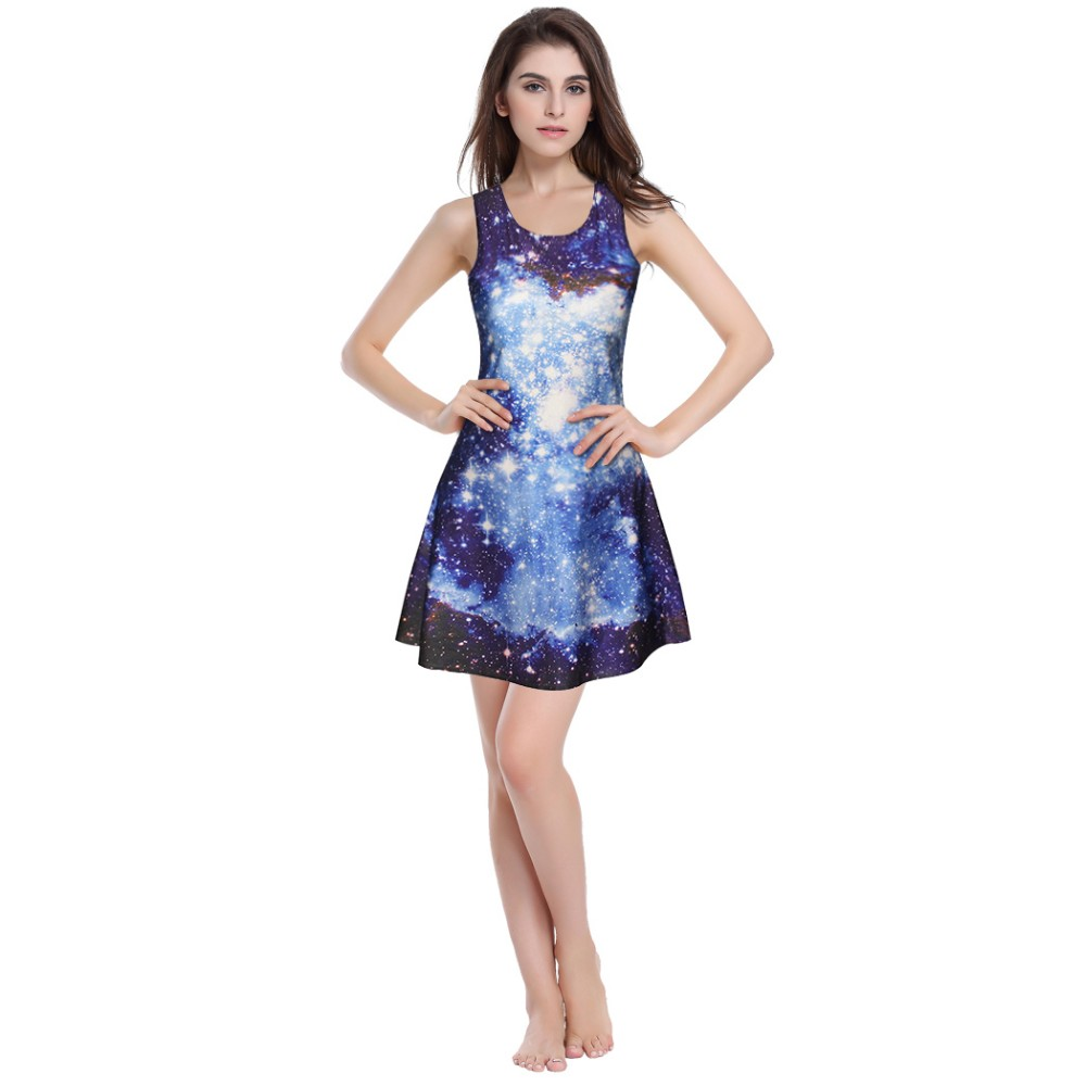 Latest Model Fashion printed Sleeveless Beautiful Lady pleated Dress
