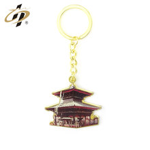 Sản phẩm bán chạy nhất in antique gold ancient xây dựng customized double sided key chains