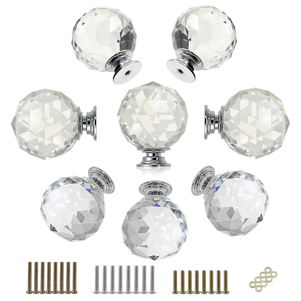 Buy Vintage Clear Oval Glass Cabinet Knobs 1 Kitchen