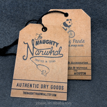 garment hangtag Design Custom Printed Paper hangtags for clothing