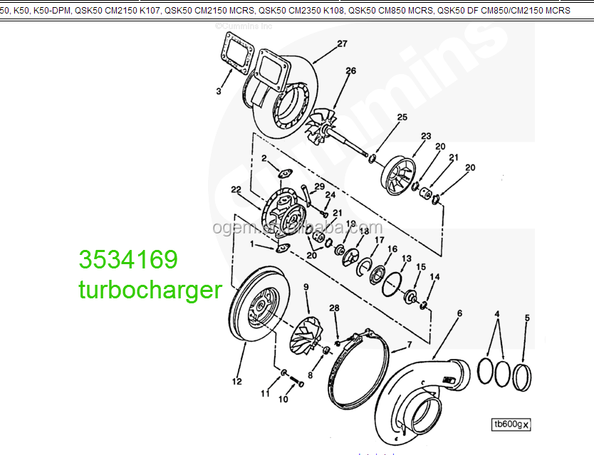 China Engine Engine Parts Turbocharger Wholesale