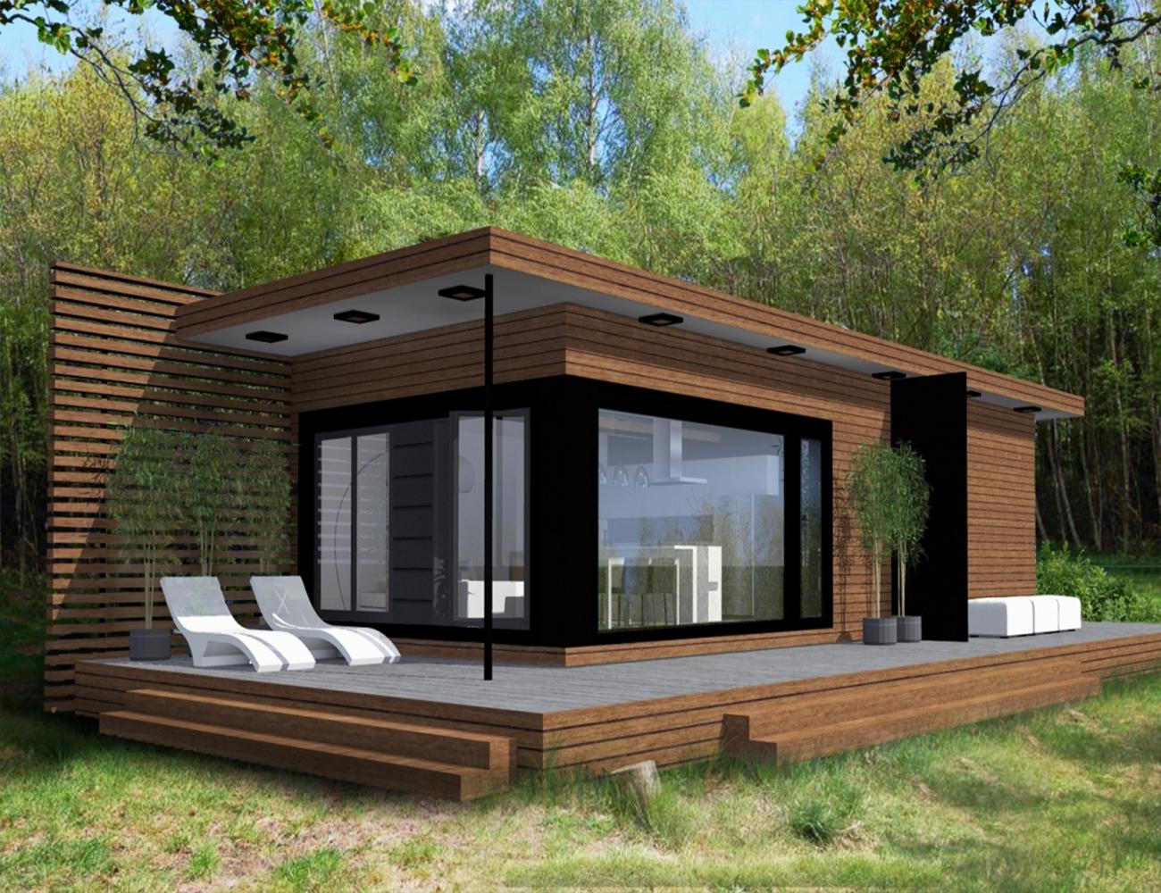 現代の高級プレハブコンテナ木造住宅