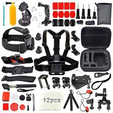 27 in 1 Go pro Accessories Kit Set stick Monopod Floating Bobber Chest Strap for Gopro Hero 4 3+2 xiaomi yi action camera GS12