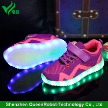 2017 Latest New Kids LED Flash Shoes Fashion Sports Sneakers LED Light Kids Shoes