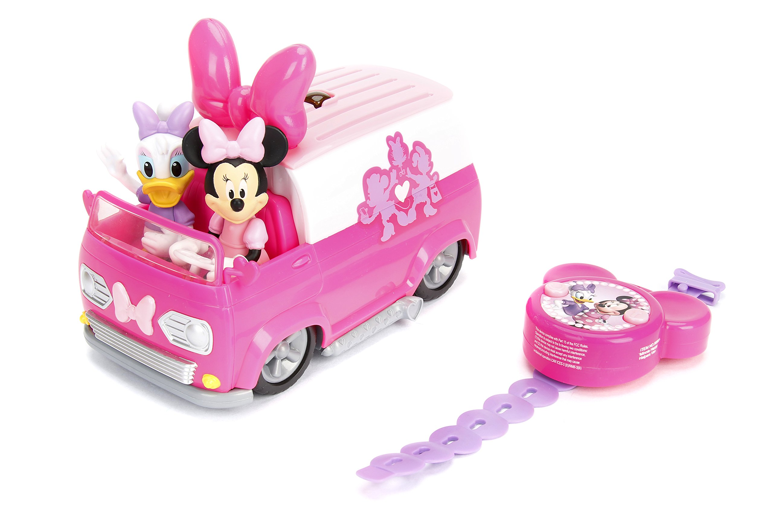 Jada Toys Disney Junior Minnie Mouse Happy Helper's Van RC/Radio Control Toy Vehicle, Pink/White