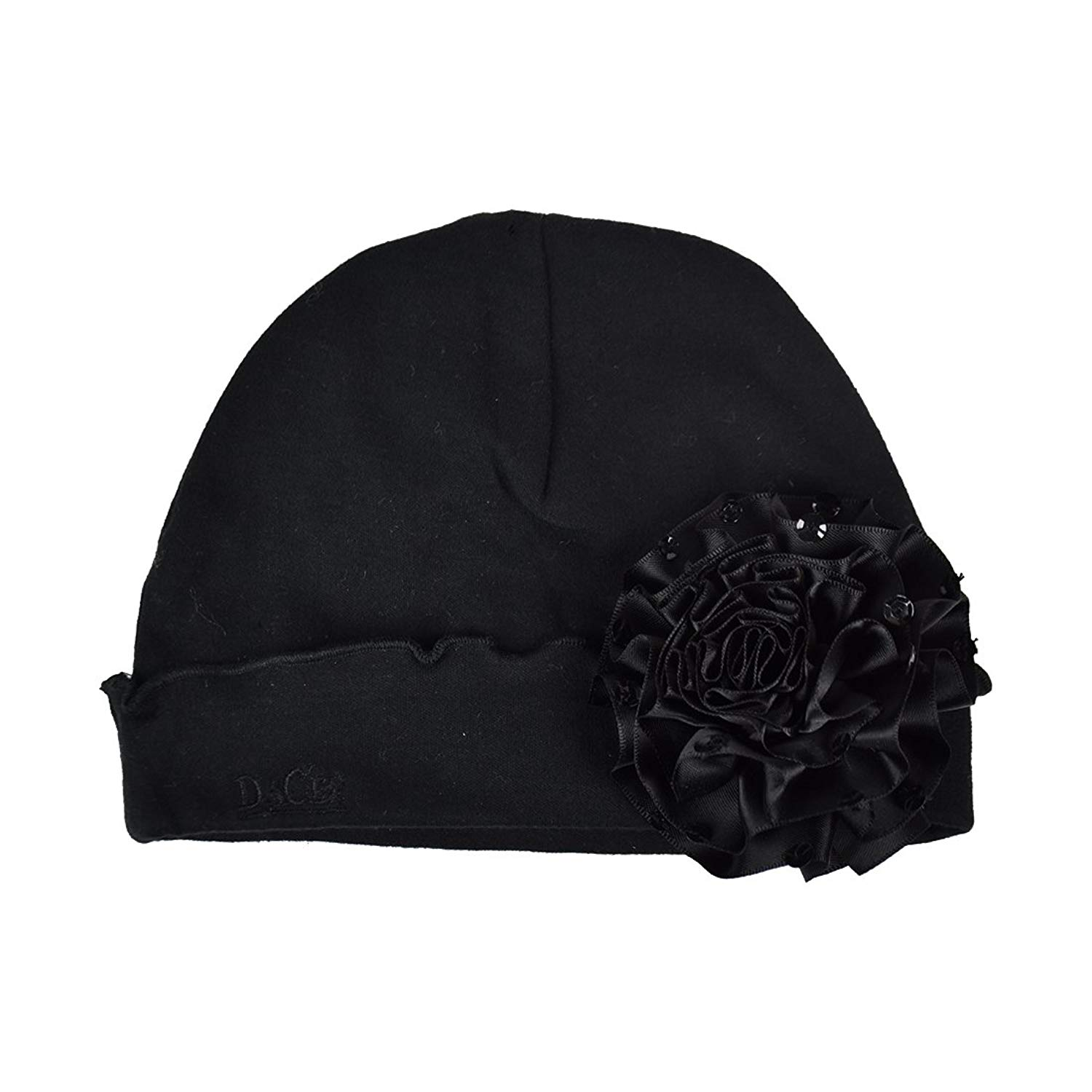 d6782d99892 Get Quotations · DaCee Designs  Baby Hat With Satin Puff   Sequins